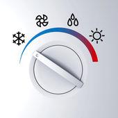 Controle de calor e frio — Foto Stock