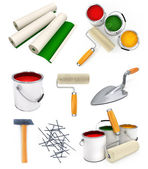 Collection of isolated working tools for house repairing — Stock Photo