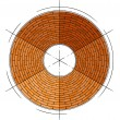 Abstract architectural brick circle symb — Stok Vektör