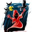 Royalty-Free Stock Imagem Vetorial: Frightful halloween midnight ghost