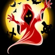 Royalty-Free Stock Vektorfiler: Frightful halloween midnight ghost