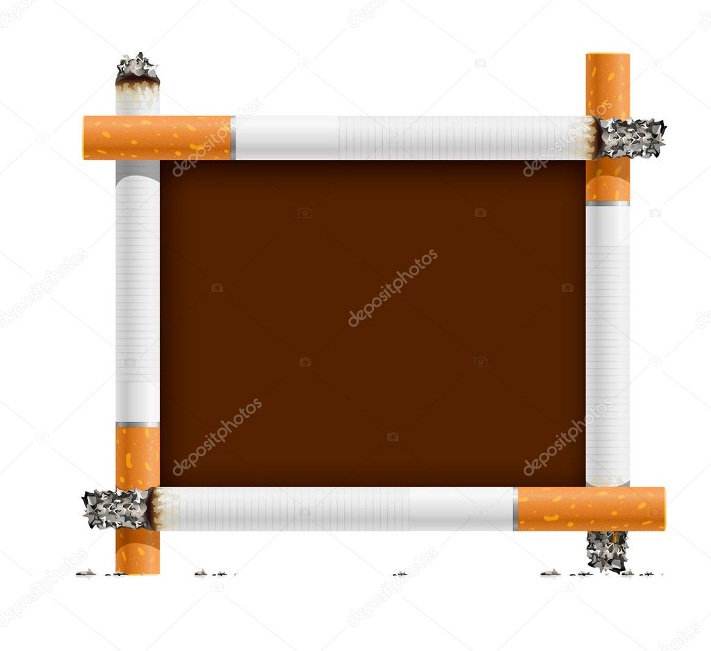 Blank sign, made of cigarettes - no smoking - vector illustration — Stock Vector #1012930