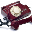Royalty-Free Stock Photo: Old telephone on white