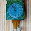 Stock Photo: Clock With Hanging Weights and pendulum