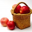 Royalty-Free Stock Photo: Apple in wooden basket