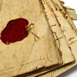 Manuscript with stamp - Foto de Stock
