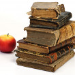 Old historic book and apple — Stock Photo #1013249