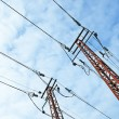 Metal energy high electrical tower - Stock Photo