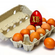 Royalty-Free Stock Photo: Easter eggs in carton box