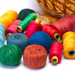 Stock Photo: Thread spool and bobbin