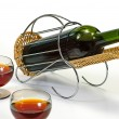 Wine bottle in basket — Stock Photo #1013522