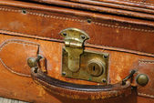 Suitcase made out of leather — Stock Photo