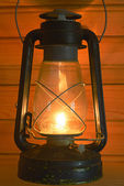 Old antique oil lantern — Stock Photo