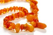Beads, necklace made of amber — Stock Photo