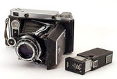 Two old photo cameras — Stock Photo