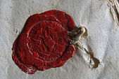 Old wax seal — Stock Photo