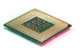 Microprocessor computers component — Stock Photo
