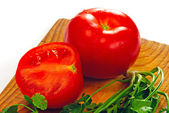 Tomato and coriander — Stock Photo