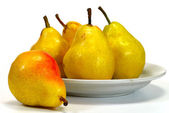 Pear on a plate — Stock Photo