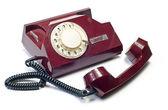 Old telephone on white — Stock Photo