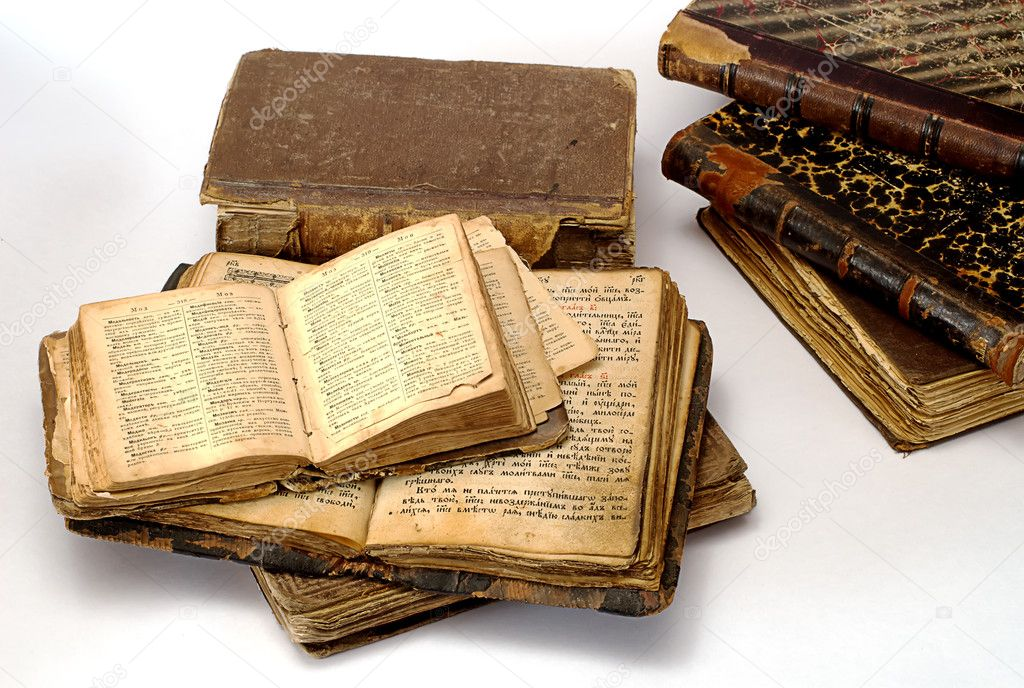 Old  religious books on white — Stock Photo #1013131