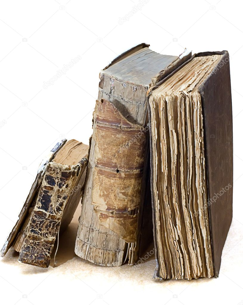 Old  religious books on white — Stock Photo #1013387