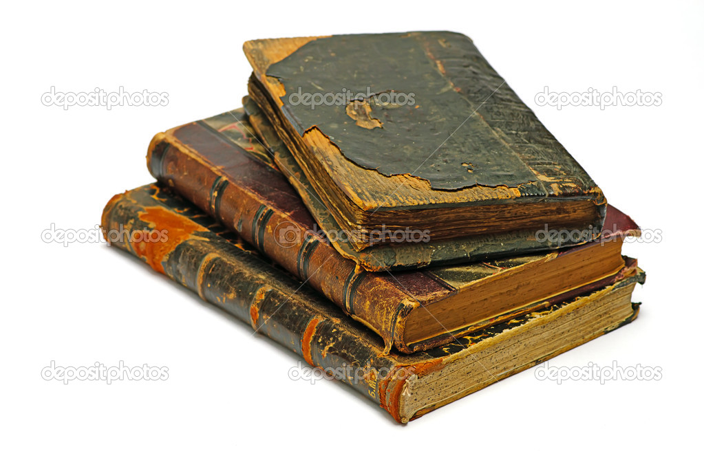 Old religious books on a white — Stock Photo #1013538