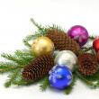 Royalty-Free Stock Photo: Christmas fur-tree and balls