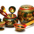 Stock Photo: Wooden tableware,