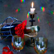 Stock Photo: Still-life on eve of Christmas