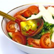 Salad, Fresh Vegetables, Fruits - Stock Photo
