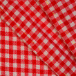 Detailed red picnic cloth, background — Stock Photo #1344055