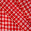 Detailed red picnic cloth, background — Stock Photo