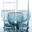Cyan drinking glass — Stock Photo