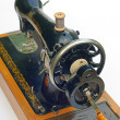 Stock Photo: Old sewing machine isolated