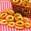 Basket with bread ring — Stok fotoğraf