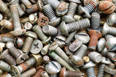 Old small rust screw — Stock Photo