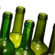 Wine bottles  isolated over white — Stock Photo
