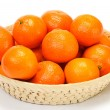 Mandarins isolated on a white — Stock Photo