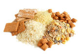 Cereal, cracker and muesli — Stock Photo