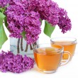 Royalty-Free Stock Photo: Tea and lilac