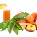 Peach juice — Stock Photo