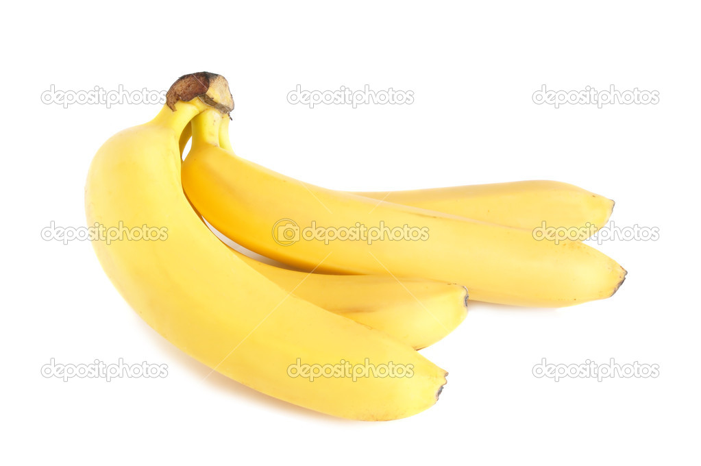 A bunch of bananas on white background — Stock Photo #1035064