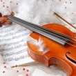 Stock Photo: Violin and notes