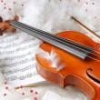 Violin and notes — Stock Photo