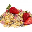 Royalty-Free Stock Photo: Healthy muesli and strawberries