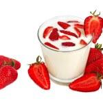 Strawberry milkshake — Stock Photo #1044185