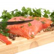 Fresh salmon steak — Foto de Stock