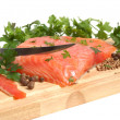 Royalty-Free Stock Photo: Fresh salmon steak