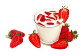 Strawberry milkshake — Foto Stock